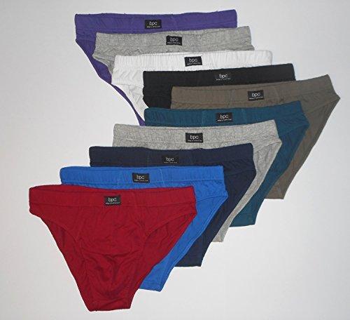 """10er-Pack Herrenslips """"Mars"""" aus Baumwolle Slip Unterhosen Männer Unterwäsche, Größe 4, 5, 6, 7, 8, 9, 10, 12"""