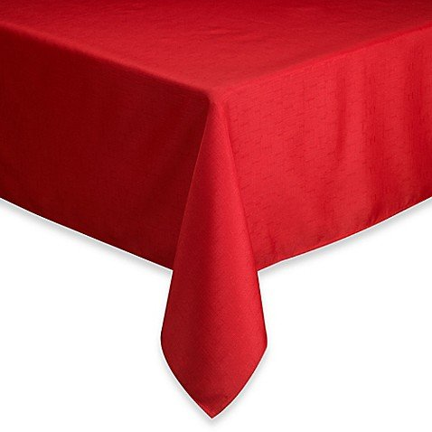 Basic Tablecloth (Basics Solid 60-Inch x 102-Inch Tablecloth in Ruby)