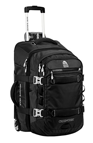 Granite Gear Cross-Trek Wheeled Carry-On with Removable 28L Pack - Black/Chromium by Granite Gear