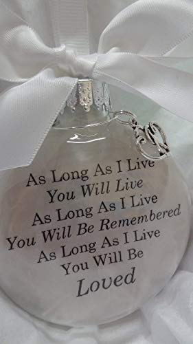 Personalized Memorial Christmas Ornament - Sympathy Gift Memorial Christmas Ornament -