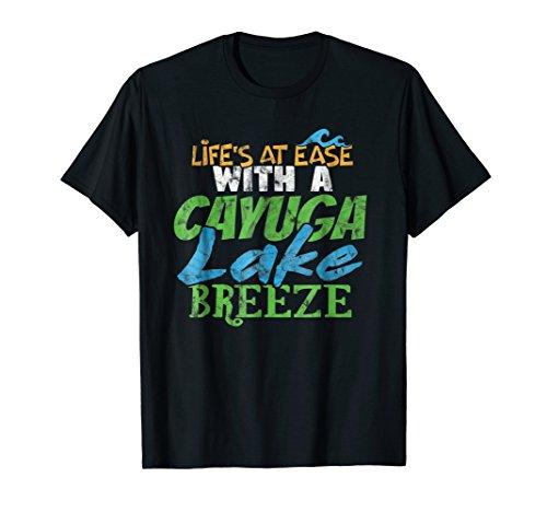 Cayuga Lake Breeze T Shirt Lake Bum Finger Lakes Cayug Lake ()