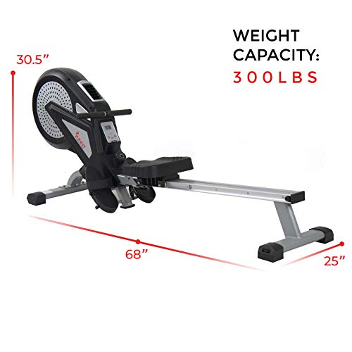 Sunny Health & Fitness SF-RW5623 Air Rowing Machine Rower w/ LCD Monitor by Sunny Health & Fitness (Image #22)