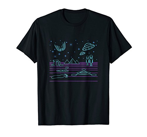 (UFO, bigfoot, pyramids, alien shirt and gift)