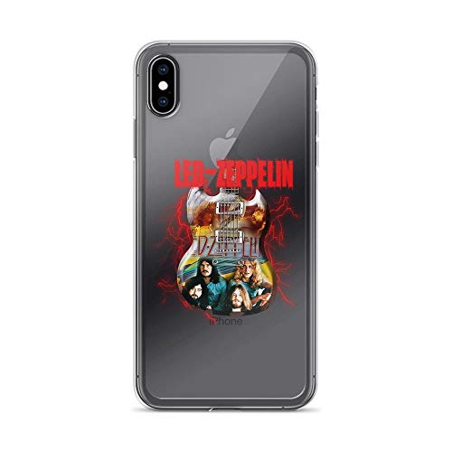 iPhone Xs Max Pure Clear Case Cases Cover Zeppelin Led English Rock Band 60s Music Gift