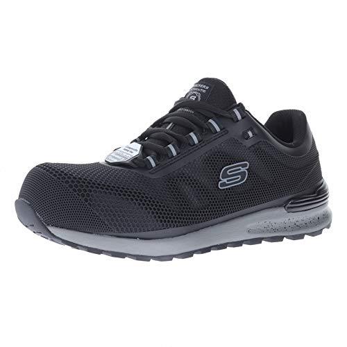 Skechers Bulklin Black Blk Mens Steel Toe Size 8.5W (Men Toe For Skechers Steel)
