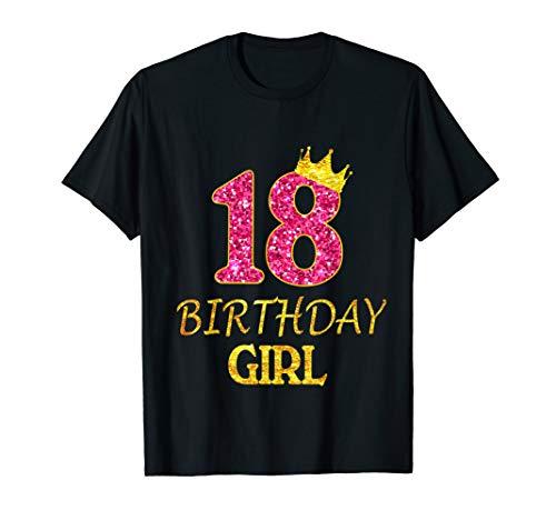 18th Birthday Girl Princess Shirt 18 Years Old 18th Gift T-Shirt