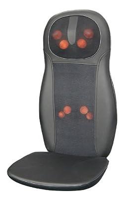 Zyllion ZMA-14-BK Shiatsu Massage Cushion with Heat (Black)- One Year Warranty