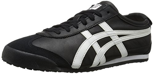 Onitsuka Tiger Mexico 66 Fashion Sneaker, Black/White, 6 M Men's US/7.5 Women's M US