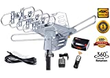 McDuory Amplified Outdoor HDTV Antenna 150 Miles Long Range - 360 Degree Rotation