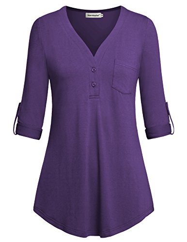 plus-size-tunic-topsnandashe-spring-tops-3-4-sleeve-shirts-for-women-purple-xxl