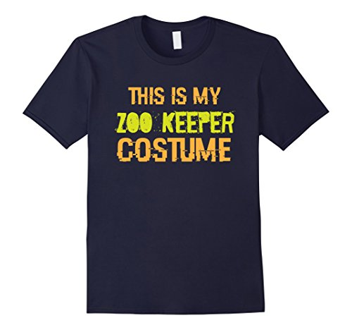 [Men's This is my Zoo Keeper Costume - Funny Halloween T Shirt 2XL Navy] (Zookeeper Costumes For Womens)