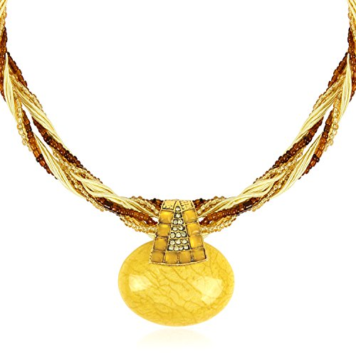 ow Oval Statement Necklace Handmade Costume Fashion Jewellery Christmas, Birthday Gift (Handmade Costume Jewelry)