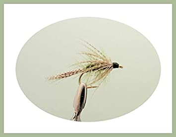 Dabbler Trout Flies Size Choice Loch Flies Fishing Flies 6 x Olive Dabblers