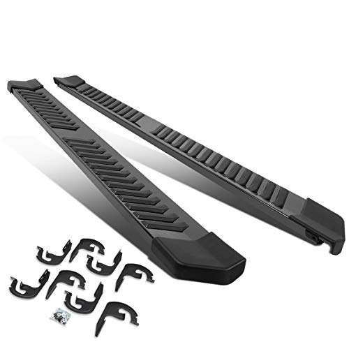 Pair 6″ Stainless Steel Side Step Bar Running Boards Black for 04-14 Ford F150 Extended Cab