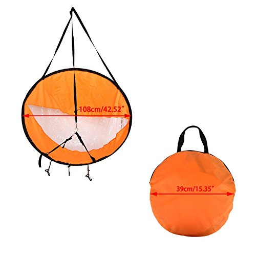 Liruis Kayak Downwind Kit 42 inches Kayak Canoe Accessories, Easy Setup & Deploys Quickly, Compact & Portable Orange by Liruis (Image #1)