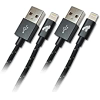 GorillaDrive 6 ft Lightning Ruggedized USB Cable (2-Pack)
