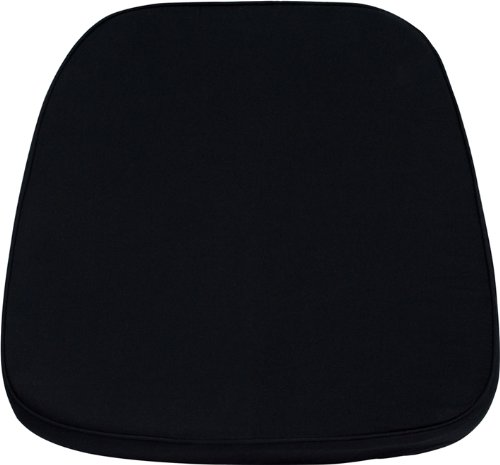 (Flash Furniture Soft Black Fabric Chiavari Chair Cushion)