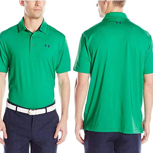 (Under Armour Men's Playoff Polo, Blade (303)/Academy Large)