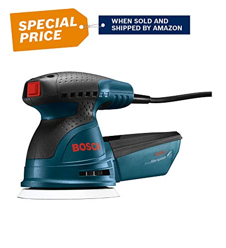 Bosch ROS20VSC Palm Sander - 2.5 Amp 5 in. Corded Variable Speed Random Orbital Sander/Polisher Kit with Dust Collector