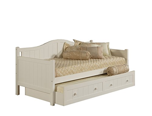 Hillsdale Furniture Hillsdale 1525DBT Staci, White Daybed with Trundle,
