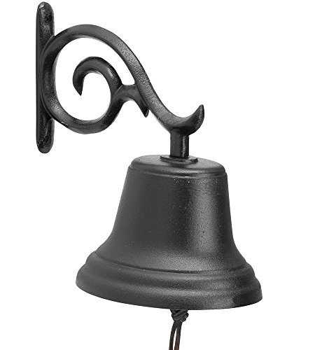 Black Large Country Bell (Farm Bell Medium)