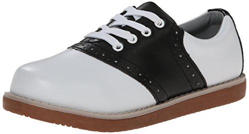 Classroom School Uniform Shoes Cheer Oxford (Toddler/Little Kid/Big Kid),Black/White,10.5 M US Little Kid