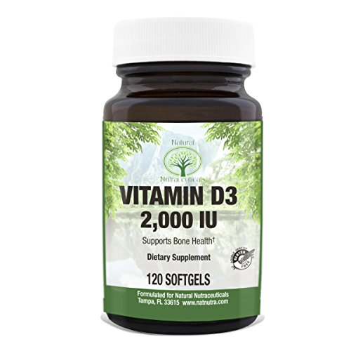 Natural Nutra Vitamin D3 Supplement, 2000 IU, 120 Softgels (Vitamin Forte D3)