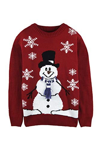 Pink Queen Unisex Ugly Christmas Xmas Pullover Sweater Jumper Red Snowman XL]()