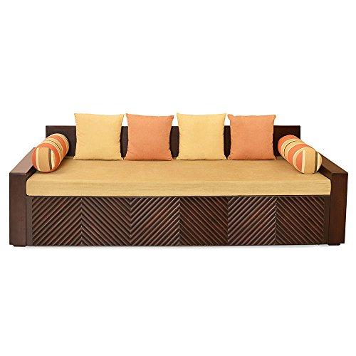 @home by Nilkamal Three Seater Sofa  Brown