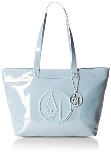 Patent Light Armani Tote Tote Jeans Eco Bag Armani Bag Light Armani Eco Jeans Blue Blue Patent rPqr6