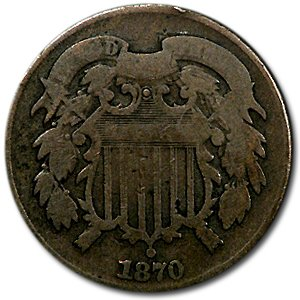 1870 Two Cent Piece Good Cent Good