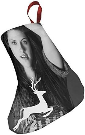 クリスマスの日の靴下 (ソックス3個)クリスマスデコレーションソックス 俳優Kristen Stewart クリスマス、ハロウィン 家庭用、ショッピングモール用、お祝いの雰囲気を加える 人気を高める、販売、プロモーション、年次式