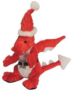 Pet Supplies : Pet Squeak Toys : goDog Santa Holiday