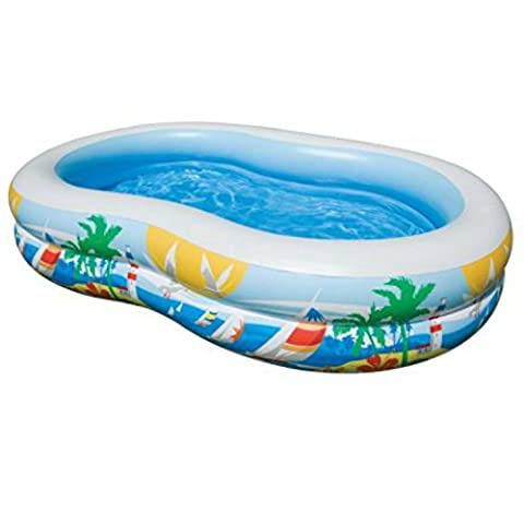 Intex Paradise Lagoon Inflatable Swim Center Kiddie Pool, Made of Vinyl - Seahawk 200 Inflatable Boat