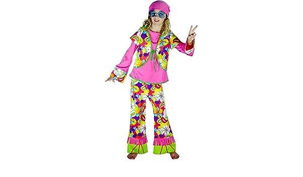 Aec Aptafêtes - cu200095 - Disfraz Hippie flor niña: Amazon.es ...