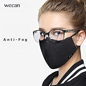 Face Mask with 2 Filters, Anti Dust Anti-Haze Cotton Mask Breathable Balaclavas for Cycling Camping Running Travel Men…