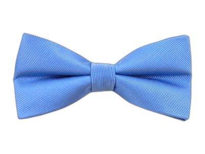 The Tie Bar 100% Woven Silk Carolina Blue GrosGrain Solid Self-Tie Bow Tie (Carolina Woven Tie)