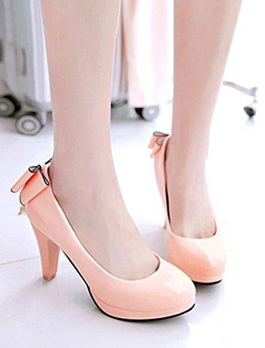 Rose Escarpins Elégant Chaussures Pour Aisun Mariage Femme Bout Rond 8w57qT0R