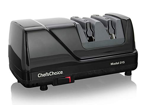 Chef'sChoice 0315101 Versatile Professional Diamond Hone Electric Knife Sharpener with XV Technology for Straight Edge or Serrated Knives 15 and 20 Degree, 2-stage, Black
