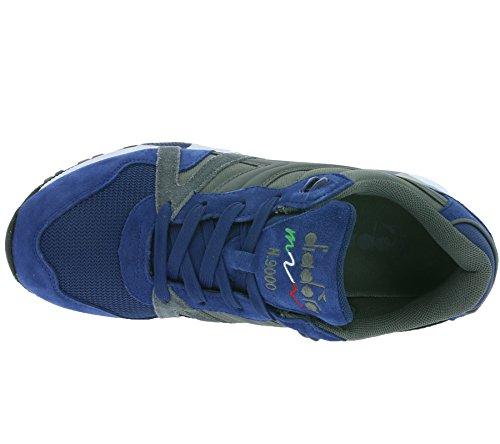 Diadora, Uomo, N9000 Nyl II Grigio Acciaio Blu Estate, Suede / Mesh, Sneakers, Blu