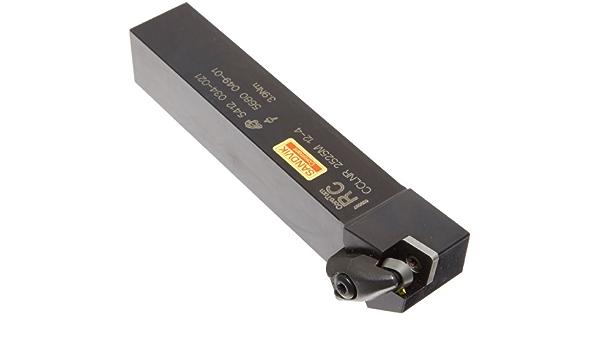 Screw Clamp Right Hand Square Shank DCMT 3 External 25mm Width x 25mm Height Shank Sandvik Coromant SDJCR 2525M 11 Turning Insert Holder 2.5 2 Insert Size Steel 150mm Length x 32mm Width