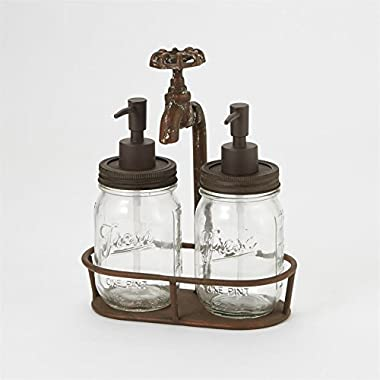 Rustic Water Spout Mason Jar Soap Pump - 3 Piece Set