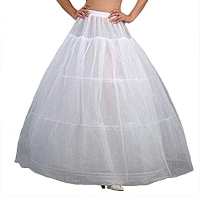 V.C.Formark Crinoline Underskirt Petticoat Half slip for Wedding Bridal Dress White