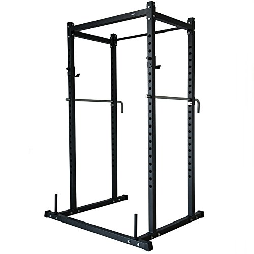 Akonza Power Rack Squat Deadlift Lift Cage Bench Racks Stand Cross Fit Pull Up w/Weight Holder