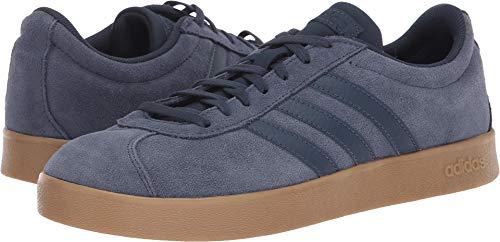 Leather Shoe Skateboard (adidas Performance Men's VL Court 2.0 Sneaker,  Trace Blue/Trace Blue/Gum,  12.5 M US)