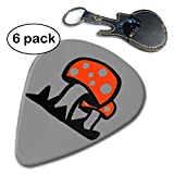 Fly Agaric Mushroom 351 Shape Classic Picks (6 Pack) For Electric Guitar, Acoustic Guitar, Mandolin And Bass