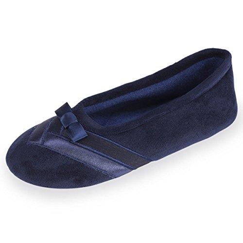 Zapatillas bailarinas para mujer Isotoner Marino