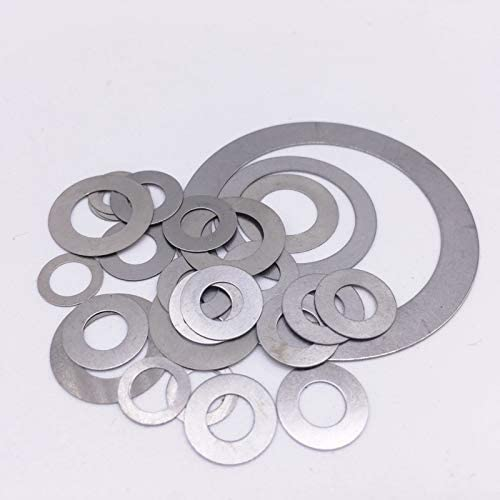 Amazon.com: Ochoos 100 Pcs Thickness 0.1mm Flat Washer Ultrathin Gasket Thin Shim Washer Stainless Steel M5 M10 M12 M14 M15 M16 M17 M18 M20 M25 - (Inner Diameter: M10, Outer Diameter: 20mm): Home Improvement