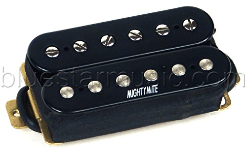 Mighty Mite Humbucker - Mighty Mite HB-F BlueBucker Ceramic Humbucker Neck Blues Pickup, Black