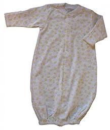 Kissy Kissy Converter Gown (Baby) - Yellow-Newborn